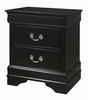 Louis Philippe 4-Pc Black Wood Twin Sleigh Bed Set by Coaster