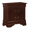 Louis Philippe 5-Pc Red Brown Wood Full Bedroom Set by Coaster