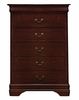Louis Philippe 5-Pc Red Brown Wood Twin Bedroom Set by Coaster