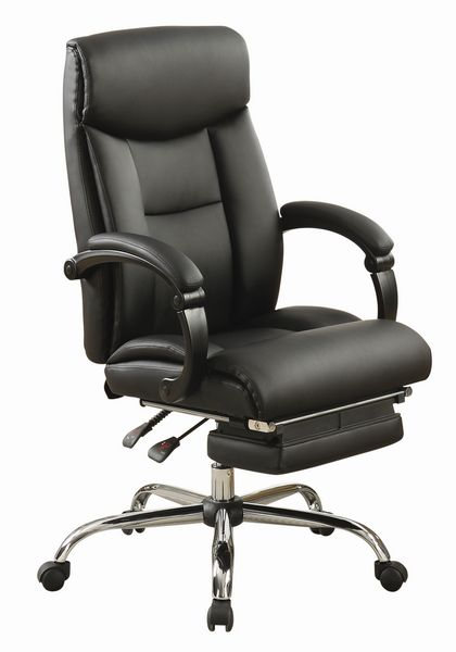 Lucen Black Leatherette Adjustable Office Chair by Coaster