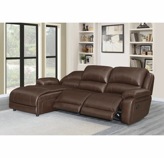 Mackenzie 3 Pc Chestnut Laf Manual Recliner Sectional Sofa By Coaster