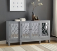 Magdi Antique Gray Wood Console Table by Acme