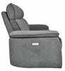 Maroni Gray Fabric Power Recliner Loveseat with USB by Homelegance
