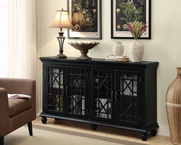 Melania Black Wood Accent Cabinet by Coaster