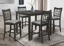 Mira Antique Black Wood Counter Height Table by Milton Greens Stars