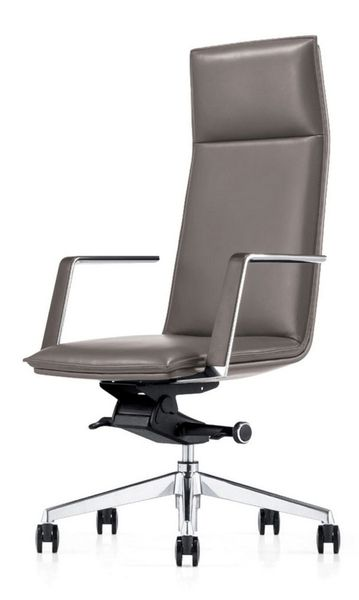 Modrest Gorsky Grey Leatherette Office Chair by VIG Furniture