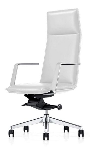 Modrest Gorsky White Leatherette Office Chair by VIG Furniture