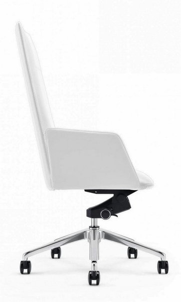 Modrest Tricia White Leatherette Office Chair by VIG Furniture