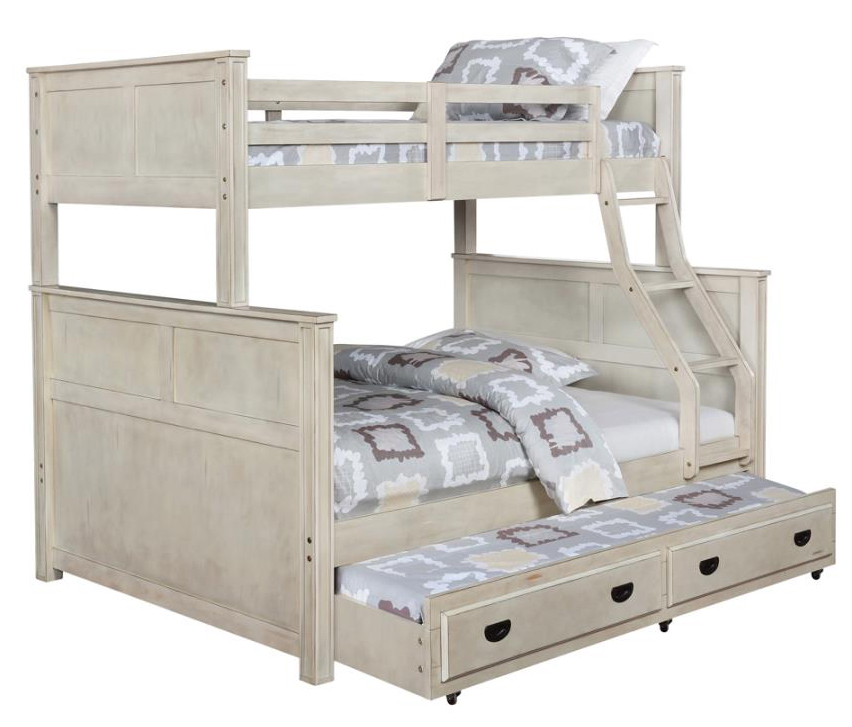 Image result for white rustic bunk beds full over twin