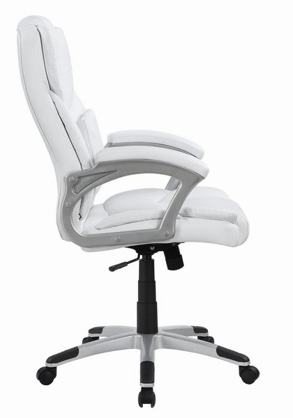 Montse White Leatherette Adjustable Office Chair by Coaster