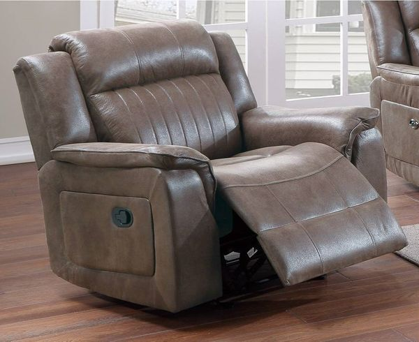 Muriel Dark Coffee Breathable Leatherette Manual Recliner by Poundex