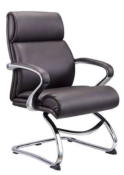 Nilda Brown Faux Leather Office Chair by American Eagle Furniture