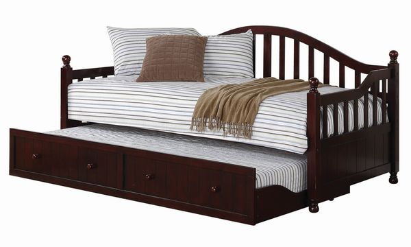 Dan Ryan Cappuccino Wood Twin Daybed with Trundle by Coaster