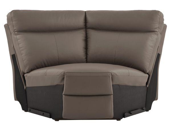 Olympia 6-Pc Raisin LAF Power Recliner Sectional Sofa by Homelegance