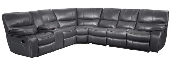 Pecos 4-Pc Gray Manual Recliner Sectional Sofa by Homelegance