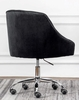Phile Black Velvet/Silver Office Chair by Best Master Furniture