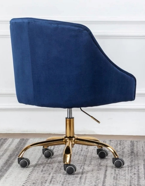 Phile Blue/Gold Office Chair by Best Master Furniture