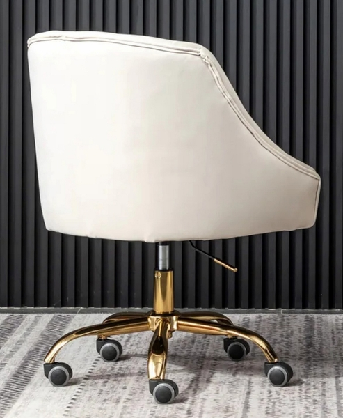 Phile Cream/Gold Office Chair by Best Master Furniture