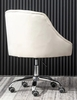Phile Cream/Silver Office Chair by Best Master Furniture