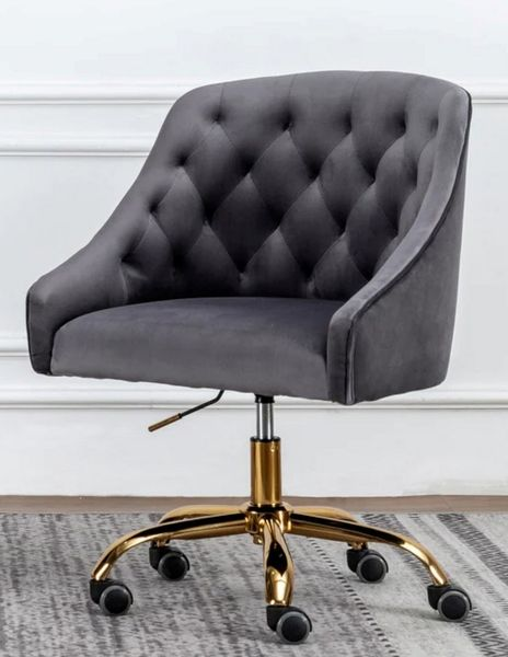 Phile Grey/Gold Office Chair by Best Master Furniture