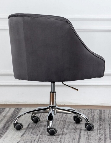Phile Grey/Silver Office Chair by Best Master Furniture