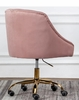 Phile Pink/Gold Office Chair by Best Master Furniture