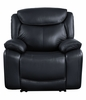 Ralorel Black Top Grain Leather Manual Recliner by Acme