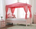 Rheanna Pink Wood Desk with Hutch by Furniture of America