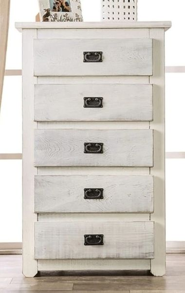 Rockwall Wire-Brushed White Wood Chest by Furniture of America