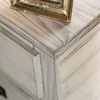 Rockwall Wire-Brushed White Wood Nightstand by Furniture of America