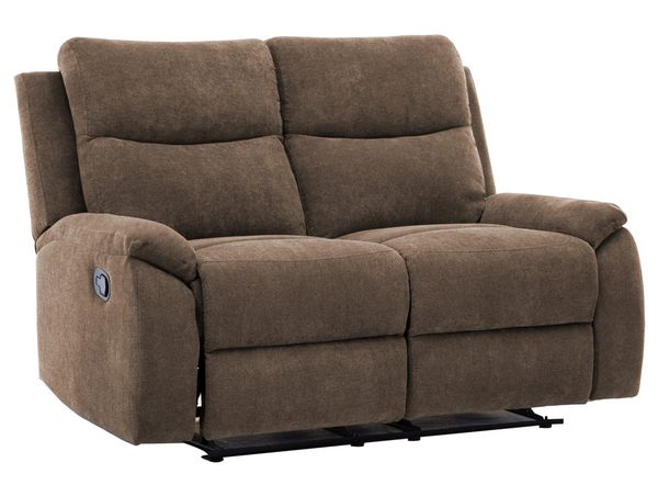 Ronald 2-Pc Brown Fabric Manual Recliner Sofa Set by AC Pacific
