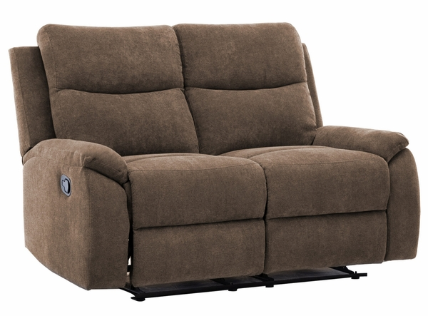 Ronald 3-Pc Brown Fabric Manual Recliner Sofa Set by AC Pacific