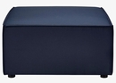 Saybrook Navy Blue Fabric Outdoor Patio Ottoman by Modway
