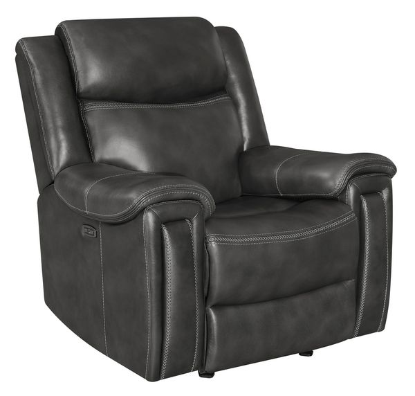 Shallowford Charcoal 2xPower Glider Recliner by Coaster