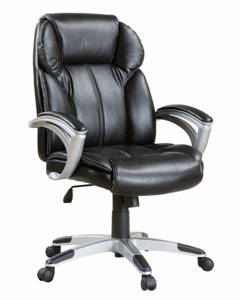 Sidonie Black Leatherette Adjustable Office Chair by Coaster