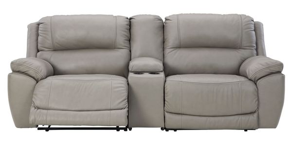 Signature Design Dunleith 3-Pc Gray Power Recliner Loveseat by Ashley
