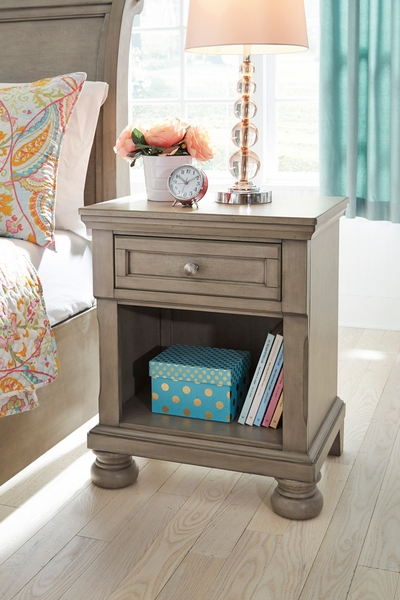 Signature Design Lettner Light Gray Youth Nightstand by Ashley