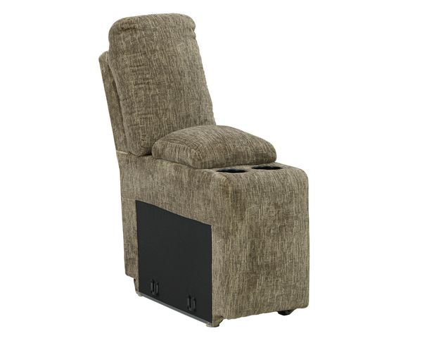 Signature Design Lubec 3-Pc Taupe Power Recliner Loveseat by Ashley