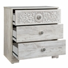Signature Design Paxberry Whitewash Wood 3-Drawer Chest by Ashley