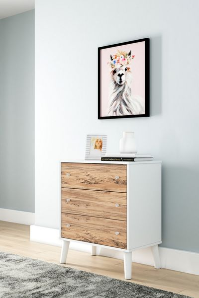 Signature Design Piperton Two-Tone Wood 3-Drawer Chest by Ashley