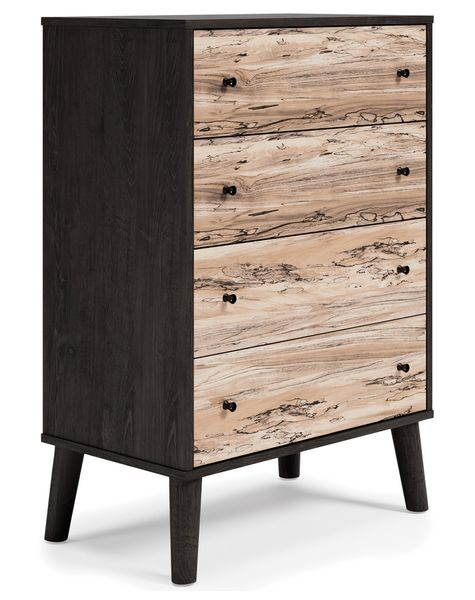 Signature Design Piperton Two-Tone Wood 4-Drawer Chest by Ashley
