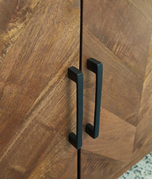 Signature Design Prattville Brown Wood Accent Cabinet by Ashley