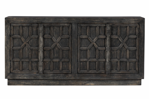Signature Design Roseworth Distressed Black Accent Cabinet by Ashley