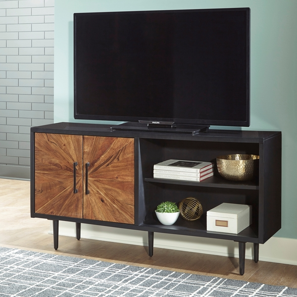 Signature Design Shayland Black/Brown Wood Accent Cabinet by Ashley