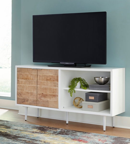 Signature Design Shayland White/Brown Wood Accent Cabinet by Ashley
