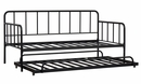 Signature Design Trentlore Black Metal Twin Daybed w/Trundle by Ashley