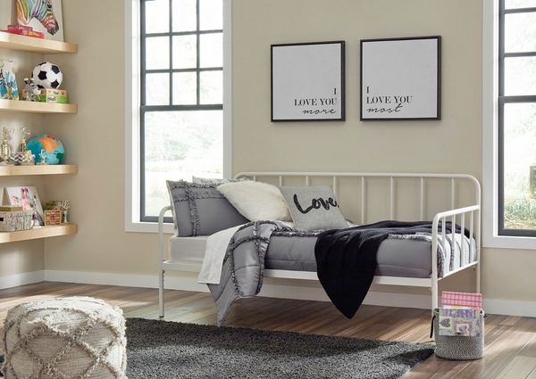 Signature Design Trentlore White Metal Twin Daybed by Ashley