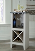 Signature Design Turnley Antique White Wood Wine Cabinet by Ashley