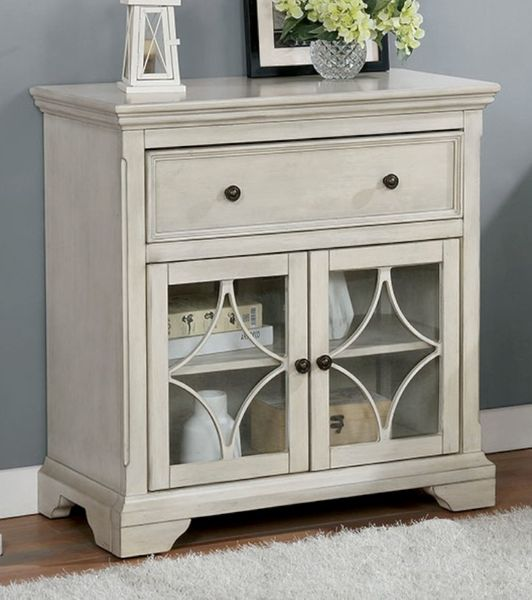 Sitges Antique White Wood Hallway Cabinet by Furniture of America
