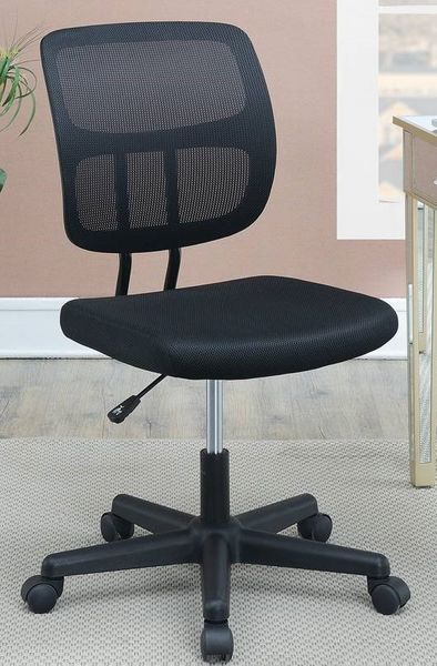 Sorne Black Mesh Adjustable Office Chair by Poundex